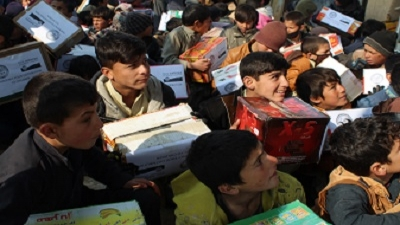 Emergency Food Distribution to IDPs and Refugee Children in Kabul